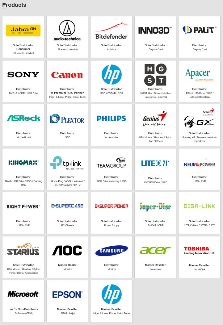 Our supported products jabra sony canon hp dell philips apacer genius plextor bitdefender